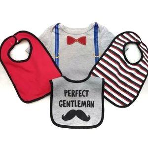 4 Piece Perfect Gentleman Baby Essentials Bundle